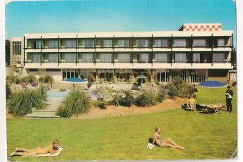 Channel Islands: Jersey. Atlantic Hotel, La Pulente, St Brelade, Colour Postcard View