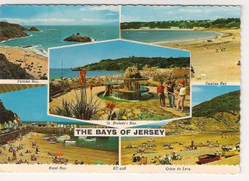 Channel Islands: Jersey. The Bays Of Jersey Colour Multiview Photo Postcard