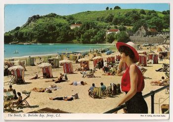 Channel Islands: Jersey. The Beach, St Brelades Bay, Colour Photo Postcard