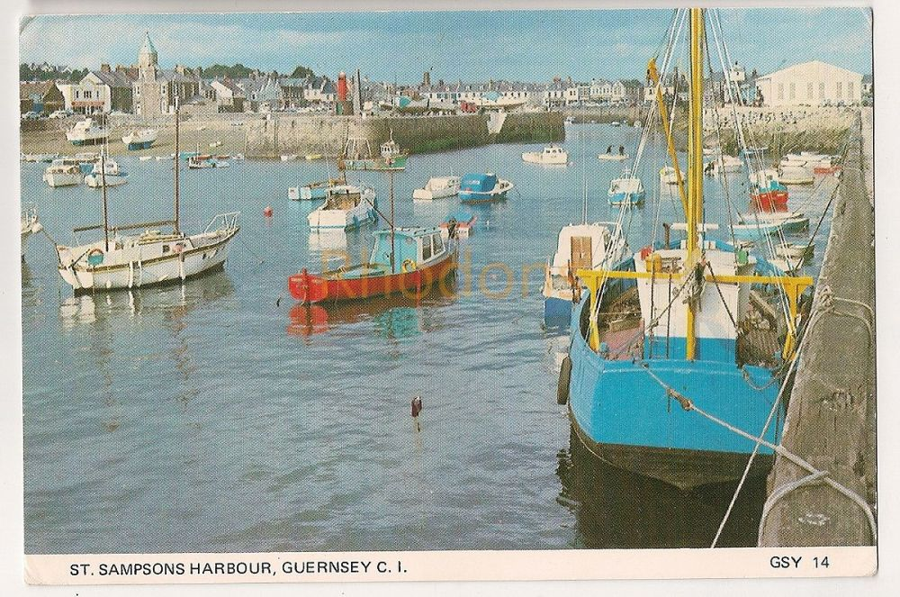 Channel Islands: Guernsey. St Sampsons Harbour Colour Photo Postcard