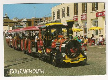 England: Dorset. The Land Train Bournemouth, Colour Photo Postcard