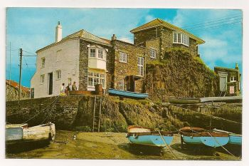 England: Cornwall. Johnny Frenchmans House, Mevagissy. Colour Photo Postcard