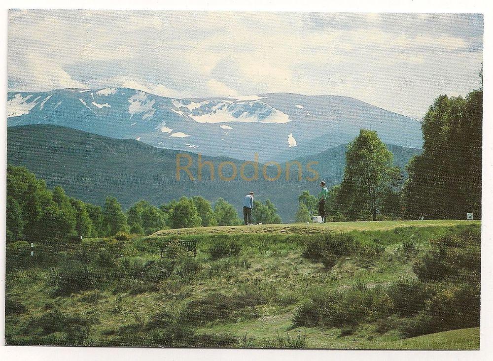 Scotland: Invernesshire. Golf, The 16th Tee, Boat Of Garten, Colour Photo Postcard
