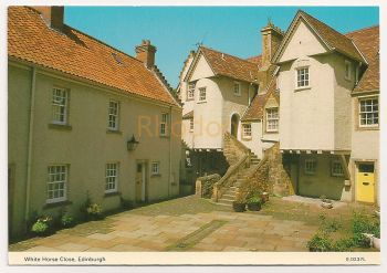 Scotland: Edinburgh. White Horse Close, Colour Photo Postcard
