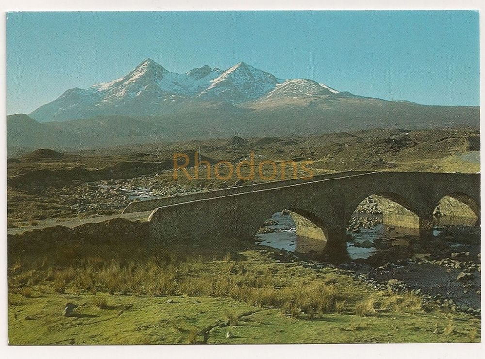 Scotland: Isle Of Skye. The Cuillins From Sligachan, Colour Photo Postcard  (RESERVED)