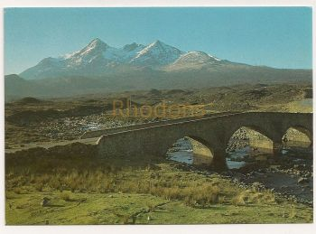 Scotland: Isle Of Skye. The Cuillins From Sligachan, Colour Photo Postcard