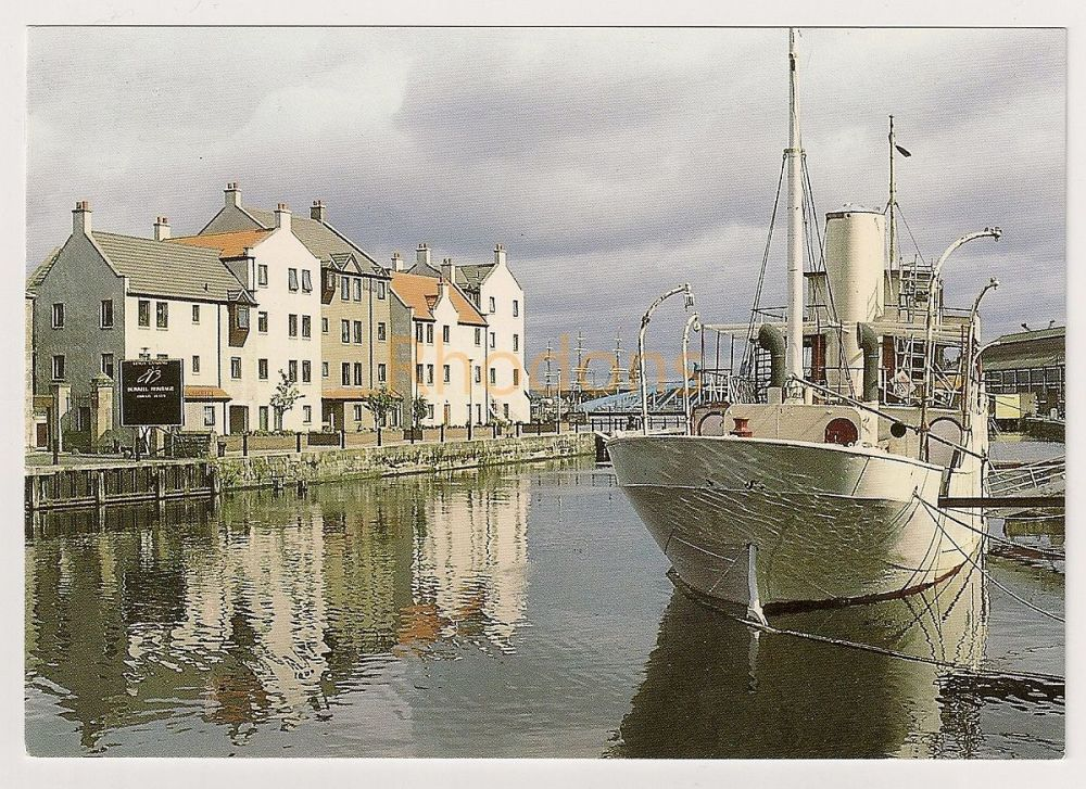 Scotland: Edinburgh. The Harbour, Leith, Colour Photo Postcard