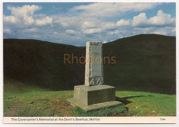 Scotland: Dumfriesshire. The Covenanters Memorial at The Devils Beeftub, Moffat, Colour Photo Postcard