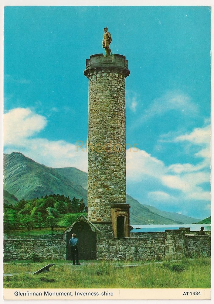 Scotland: Inverness-shire. Glenfinnan Monument Colour Photo Postcard