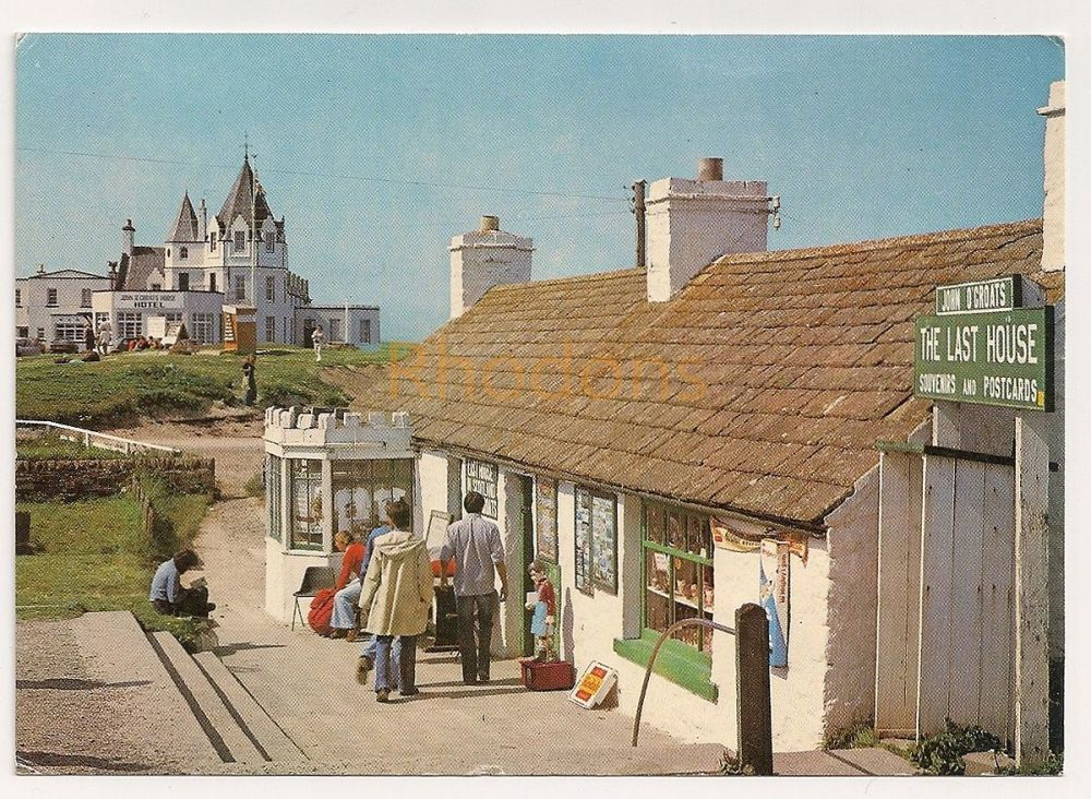 Scotland: Caithness. Last House And Hotel, John O'Groats, Colour Photo Postcard
