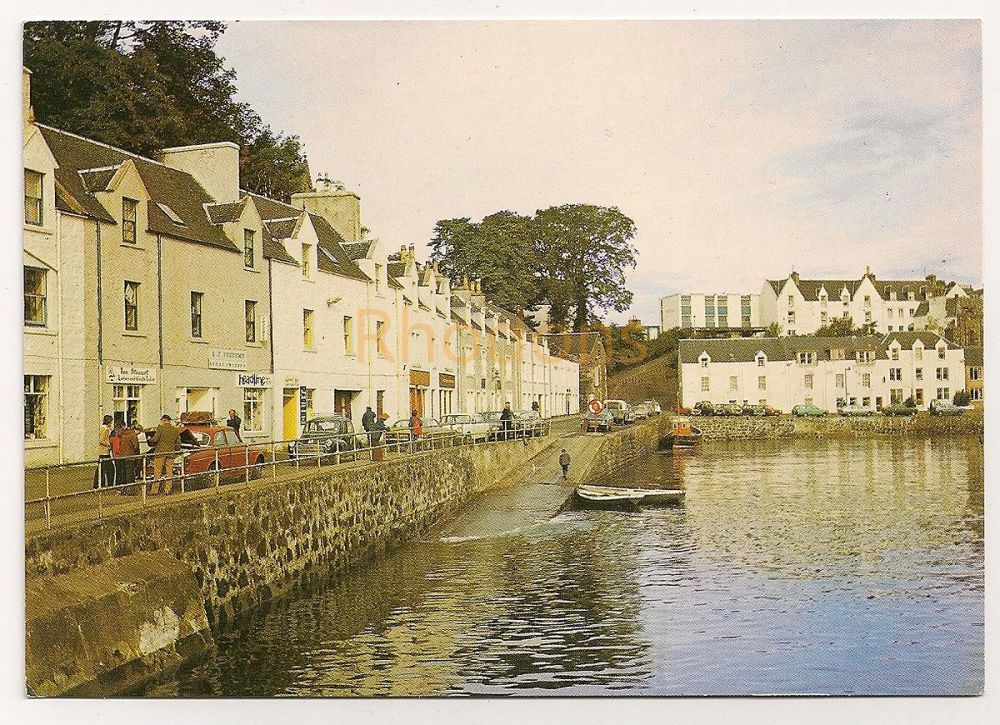 Scotland: Isle Of Skye. Portree From The Harbour. Colour Photo Postcard  (RESERVED)