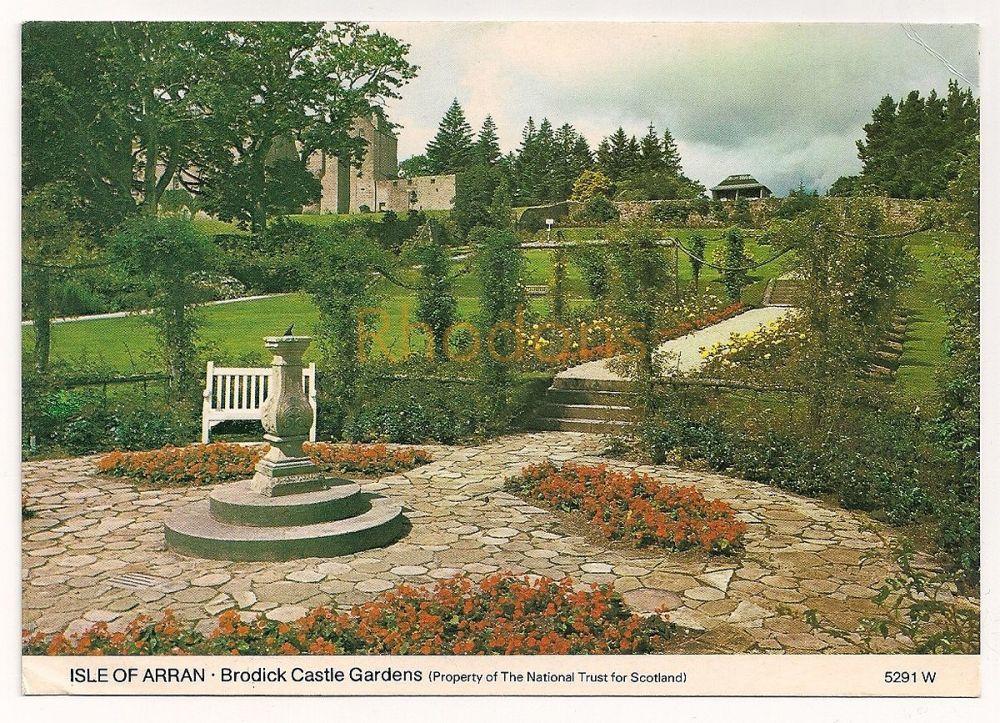 Scotland: Isle Of Arran, Ayrshire. Brodick Castle Gardens, Colour Photo Postcard