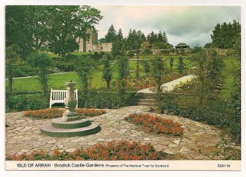 Scotland: Isle Of Arran, Ayrshire. Brodick Castle Gardens, Colour Photo Postcard