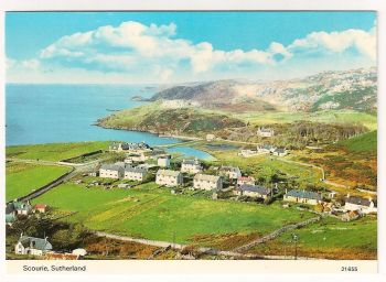 Scotland: Sutherland. Scourie, Colour Photo View