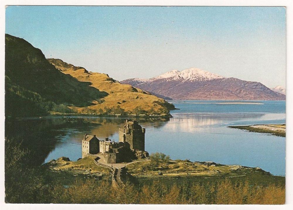 Scotland: Ross-shire. Eilan Donan Castle, Colour Photo Postcard