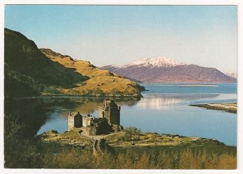 Scotland: Ross-shire. Eilan Donan Castle, Colour Photo Postcard