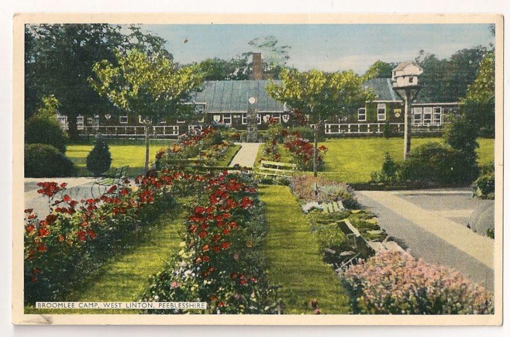 Scotland: Peebles-shire. Broomlee Camp, West Linton, Colour Photo Postcard