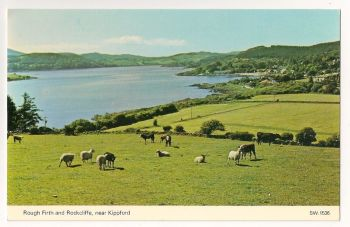 Scotland: Dumfries and Galloway. Rough Firth And Rockcliffe Near Kippford, Colour View Postcard