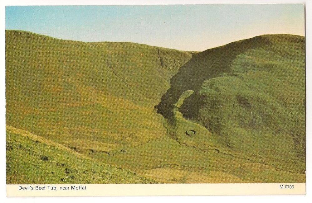 Scotland: Dumfries & Galloway. Devils Beef Tub Near Moffat, Colour Photo Postcard