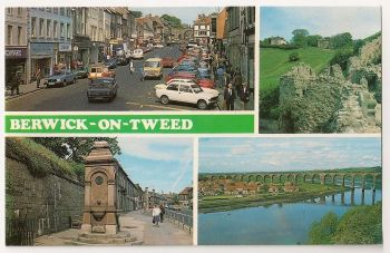 Scotland: Berwickshire. Berwick On Tweed Multiview Photo Postcard