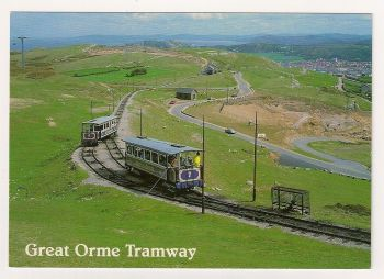 Wales: Great Orme Tramway, Llandudo. Colour Photo Postcard
