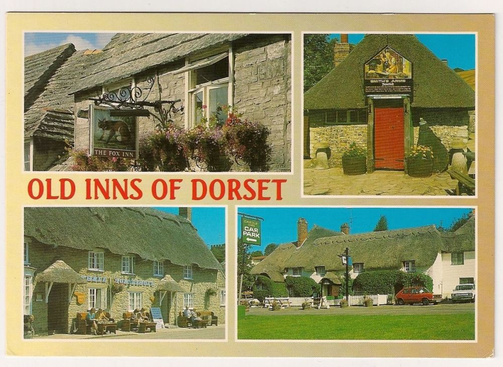 England: Dorset. Old Inns Of Dorset, Multiview Colour Photo Postcard