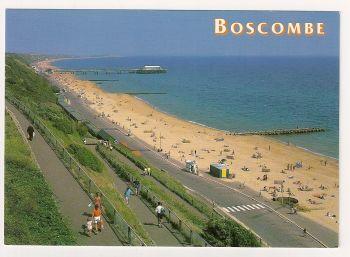 England: Dorset. Promenade And Pier View, Boscombe, Colour Photo Postcard