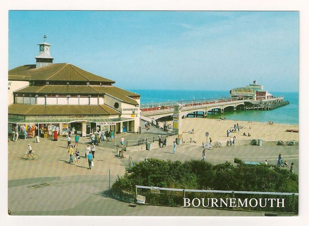 England: Dorset. The Pier, Bournemouth, Colour Postcard
