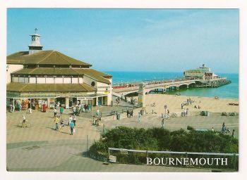 England: Dorset. The Pier, Bournemouth, Colour Postcard
