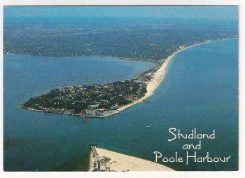 England: Dorset. Studland And Poole Harbour, Aerial Colour Photo Postcard