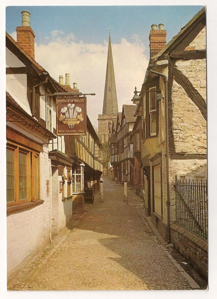 England: Herefordshire. Church Lane, Ledbury, Herefordshire. Colour Postcard