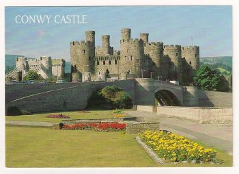 Wales: Conwy Castle, Colour Photo Postcard