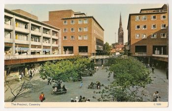England: Warwickshire. The Precinct, Coventry, Colour Photo Postcard