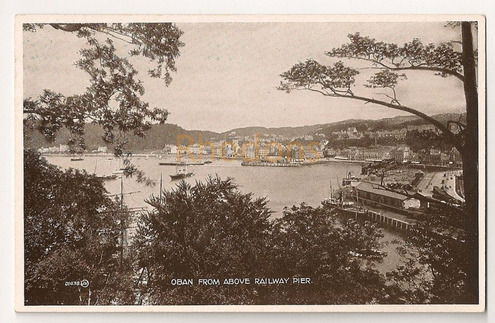 Scotland: Argyll & Bute. Oban From Above Railway Pier. Early 1900s Postcard