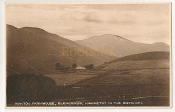 Scotland: Midlothian. Kirkton Farmhouse, Glencorse With Carnethy In The Distance. Early 1900s Postcard
