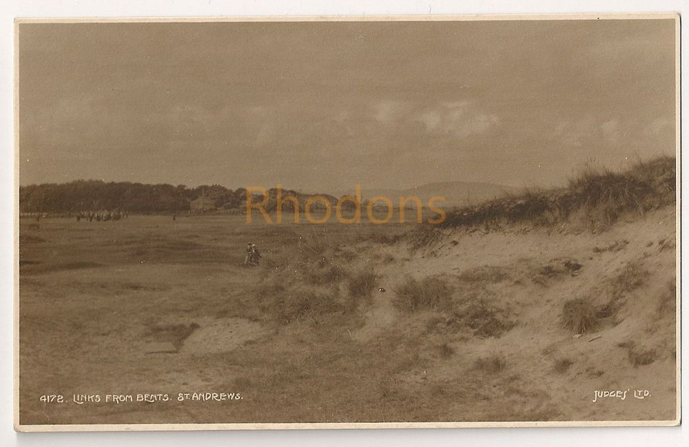Scotland: Fife. St Andrews Golf Links View From Bents. Early 1900s Photo Postcard