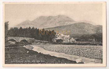 Scotland: Highlands. Kinlochewe Hotel And Ben Eay. Early 1900s Postcard