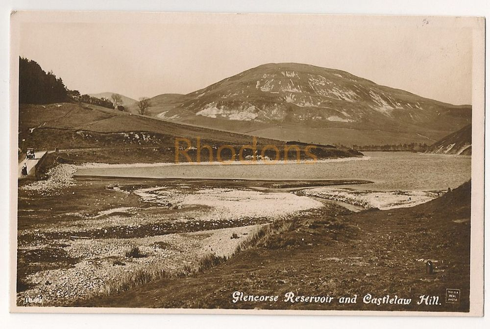 Scotland: Midlothian. Glencorse Resevoir And Castlelaw Hill. Early 1900s Postcard