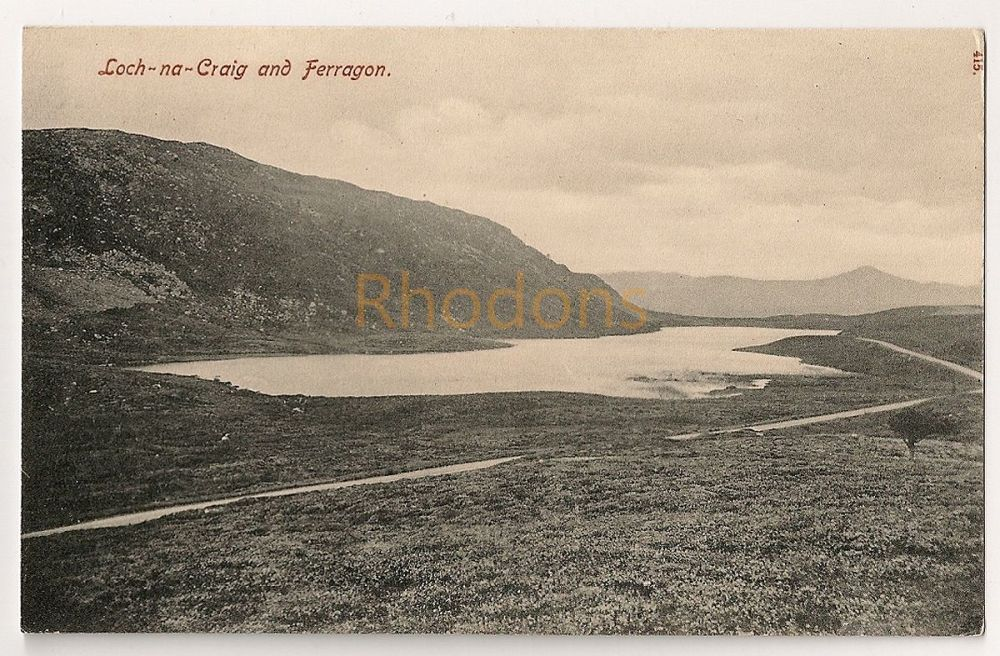 Scotland: Perthshire. Loch Na Craig And Ferragon, Pre 1914 Photo Postcard