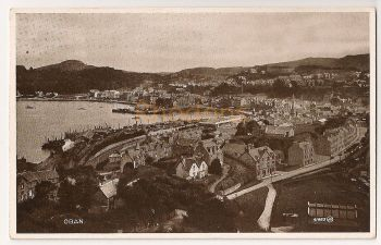 Scotland: Argyll & Bute. ObanTownscape Photo Postcard