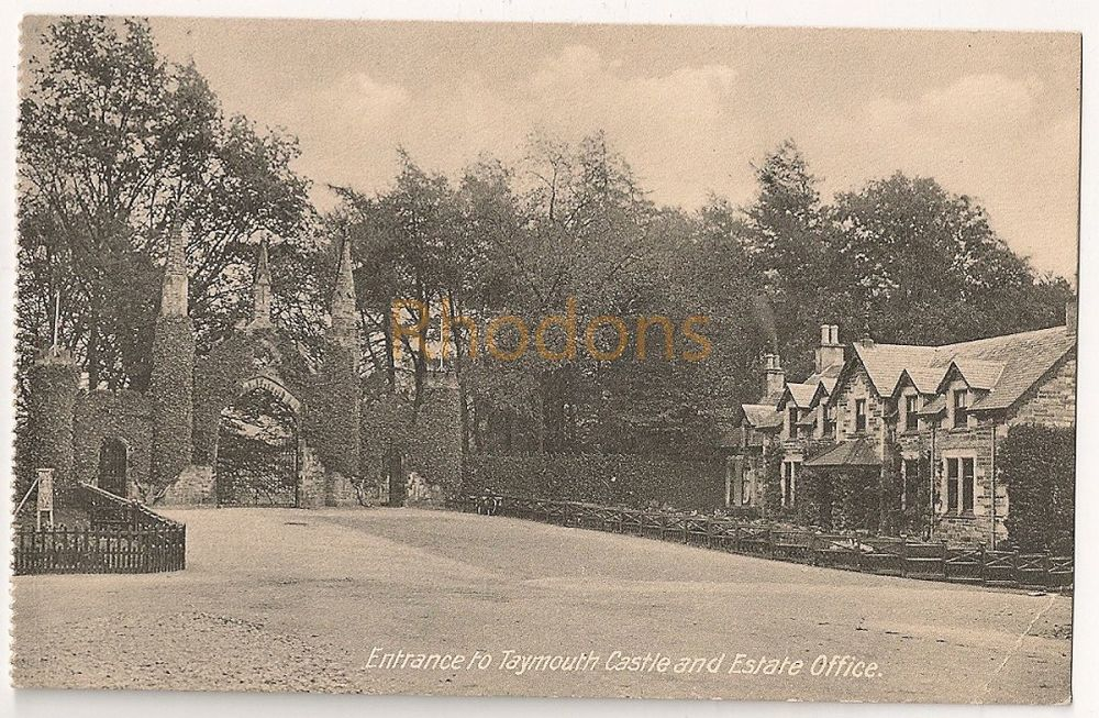 Scotland: Perth & Kinross. Taymouth Castle, Entrance And Estate Office View, Early 1900s Postcard