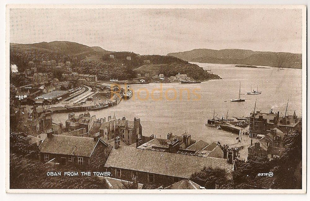 Scotland: Argyll & Bute. Oban View From The Tower. Printed Photo Postcard