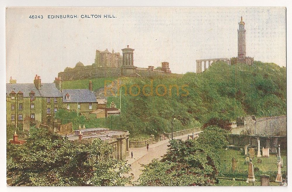 Scotland: Midlothian, Edinburgh. Calton Hill, Early 1900s Colour Printed Photo Postcard
