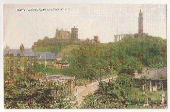 Scotland: Midlothian, Edinburgh. Calton Hill, Early 1900s Colour Printed Photo Postcard