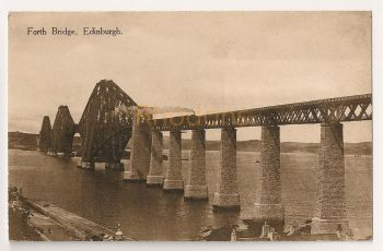 Scotland: Midlothian, Edinburgh. Forth Rail Bridge. National Series Postcard