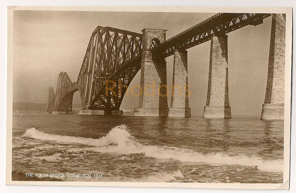 Scotland: Midlothian, Edinburgh. Forth Rail Bridge. J Salmon Ltd Real Photo Postcard