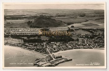 Scotland: East Lothian. North Berwick From The Air. Real Photo Postcard