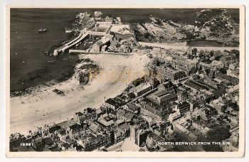 Scotland: East Lothian. North Berwick From The Air. Aero Pictorial Ltd Real Photo Postcard