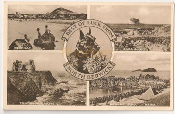 Scotland: East Lothian. North Berwick Multiview Photo Postcard