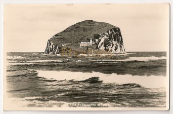 Scotland: East Lothian. The Bass Rock North Berwick Real Photo Postcard
